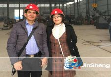 Egyptian Customer Visited Zhengzhou Jinsheng Construction Machinery Co.,Ltd.