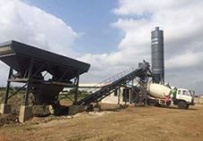 Dry Concrete Batching Plant delivered to Ghana
